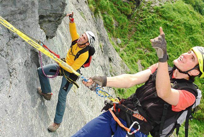 Klettersteig Wolfgangsee : Postalmklamm klettersteig d f postalm m salzkammergut