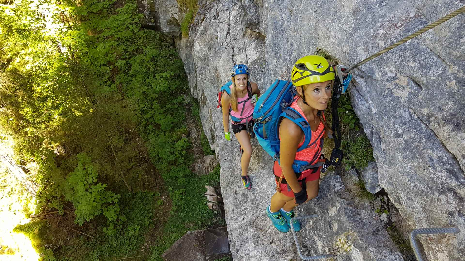 Klettersteig Wolfgangsee : Postalmklamm klettersteig mit f variante bergsteigen
