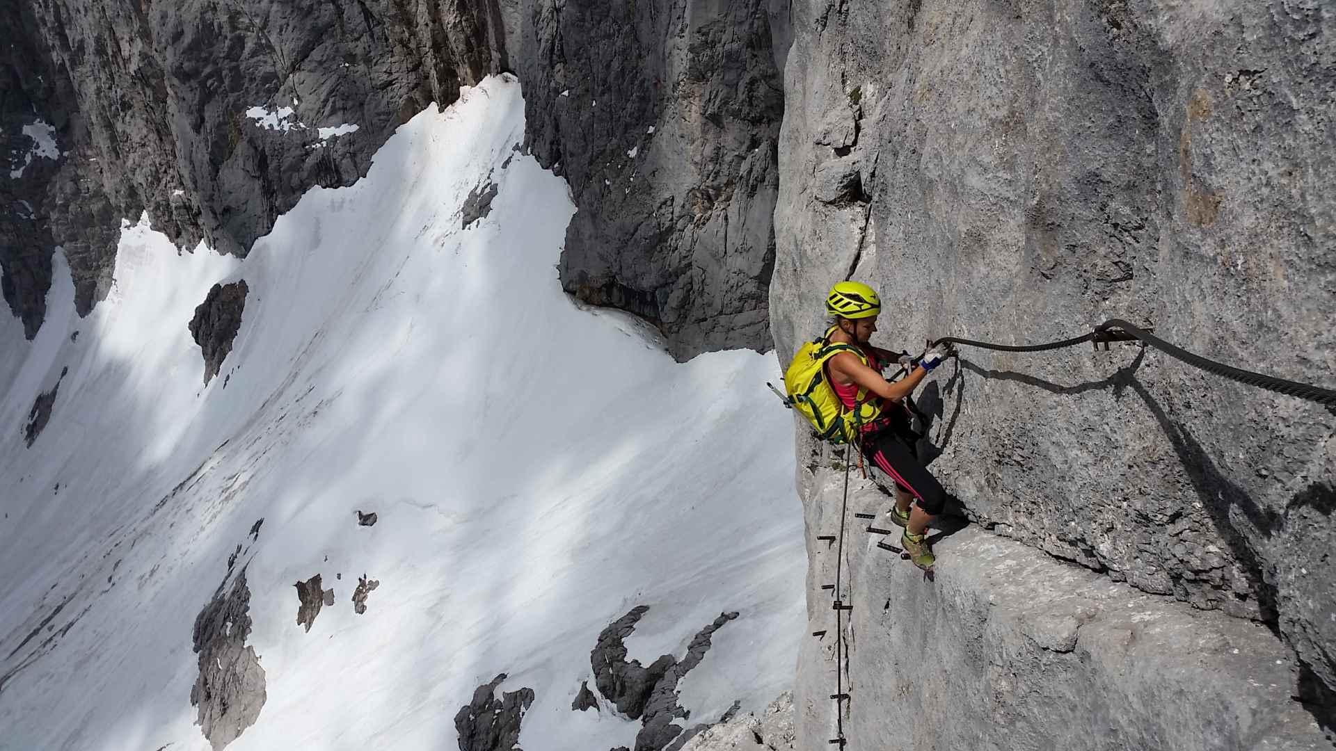 Klettersteig Zahme Gams : Klettersteige bei lofer