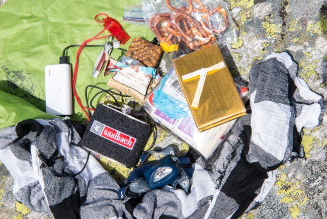 Nützliche Dinge im Rucksack.