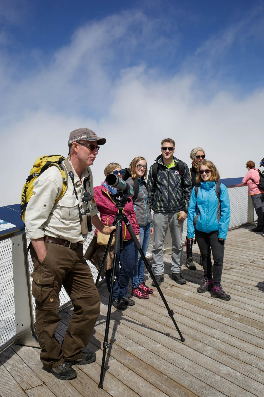 c Andreas Baldinger. Auf der Aussichtsplattform ,Top of Salzburg'.
