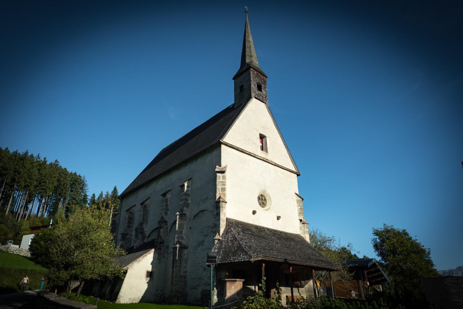 Unser Startpunkt: die schöne Kirche in St. Margarethen.