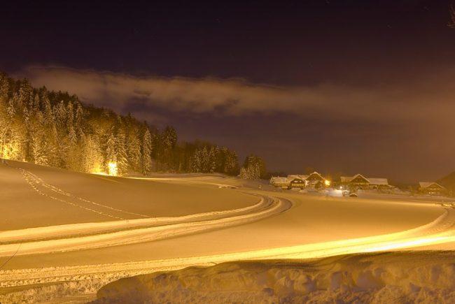 Langlaufen Nachtloipe Faistenau