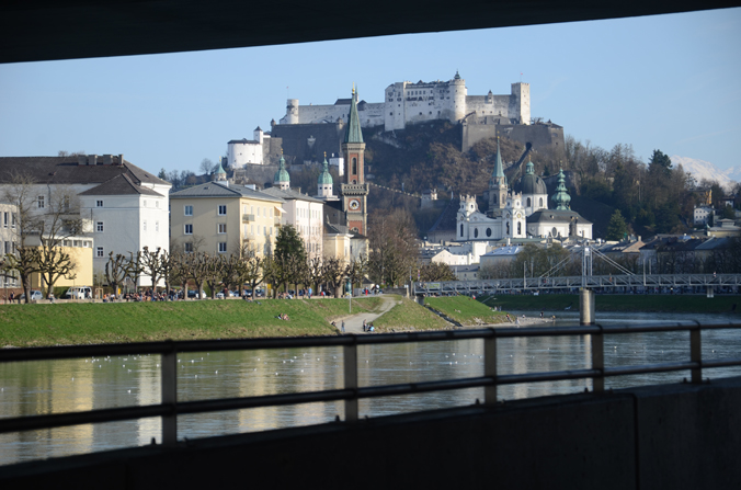 Festung Hohensalzburg mit Kirchtürmen
