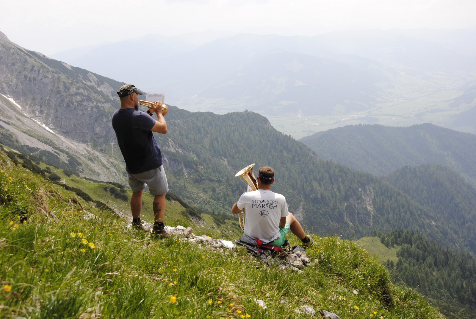 Musikalische Ständchen im hochalpinen Gelände