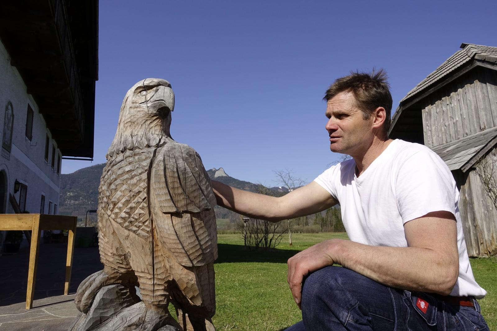 Josef mit seinem Adler