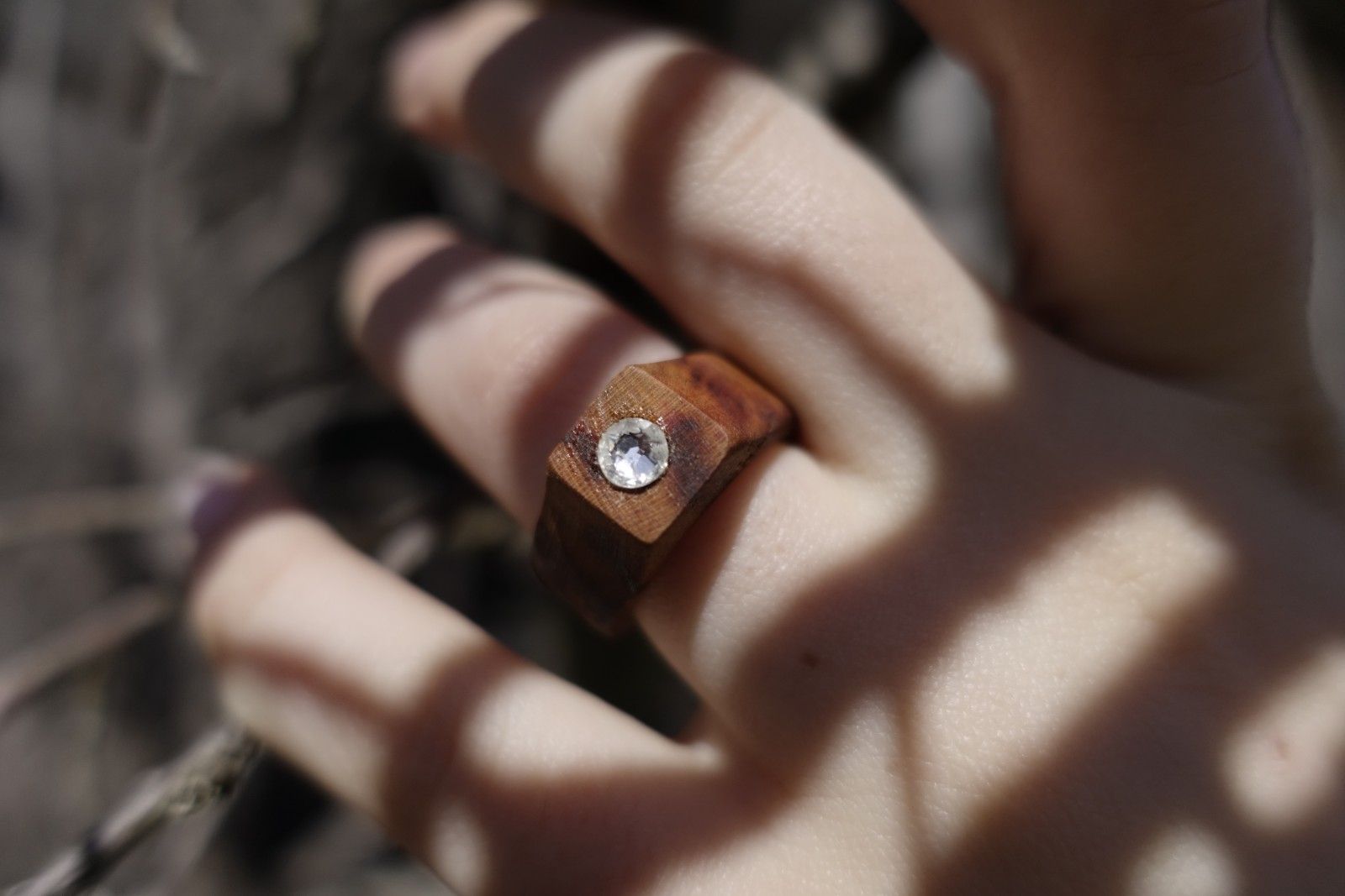 nächste Stufe: Ringe mit Steinen bestickt
