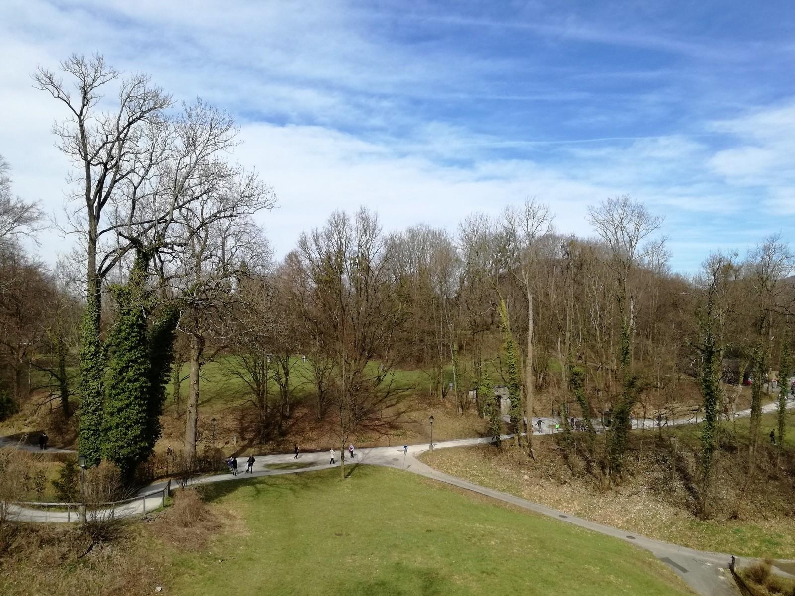 Der Mönchsberg ist von zahlreichen Wegen durchzogen
