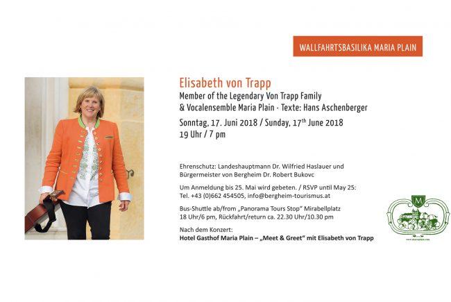 Elisabeth von Trapp Konzert Einladung