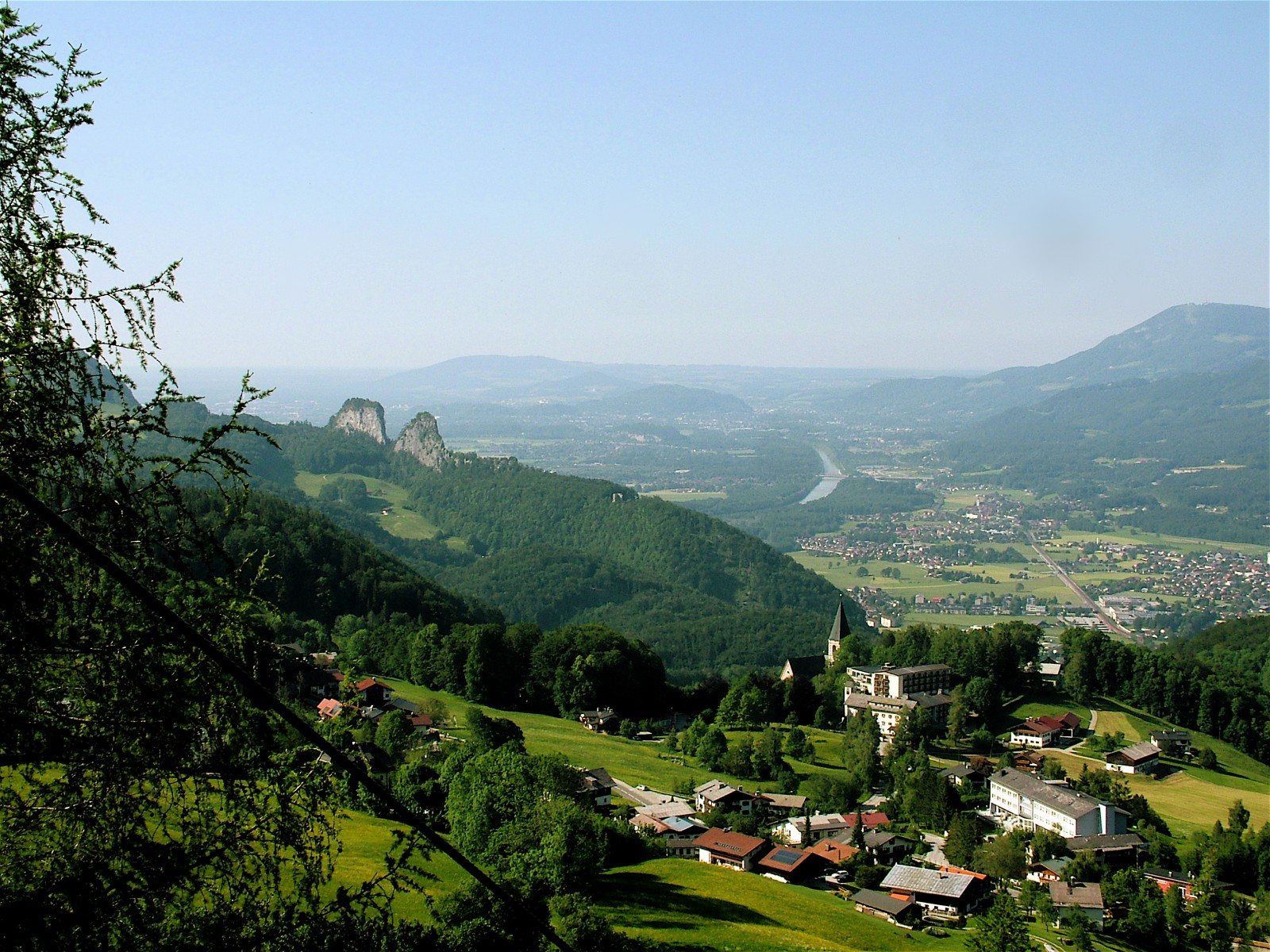 Entspannend: Blick auf Bad Dürrnberg