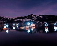 Der Sternenadvent spiegelt sich auch noch im Zeller See