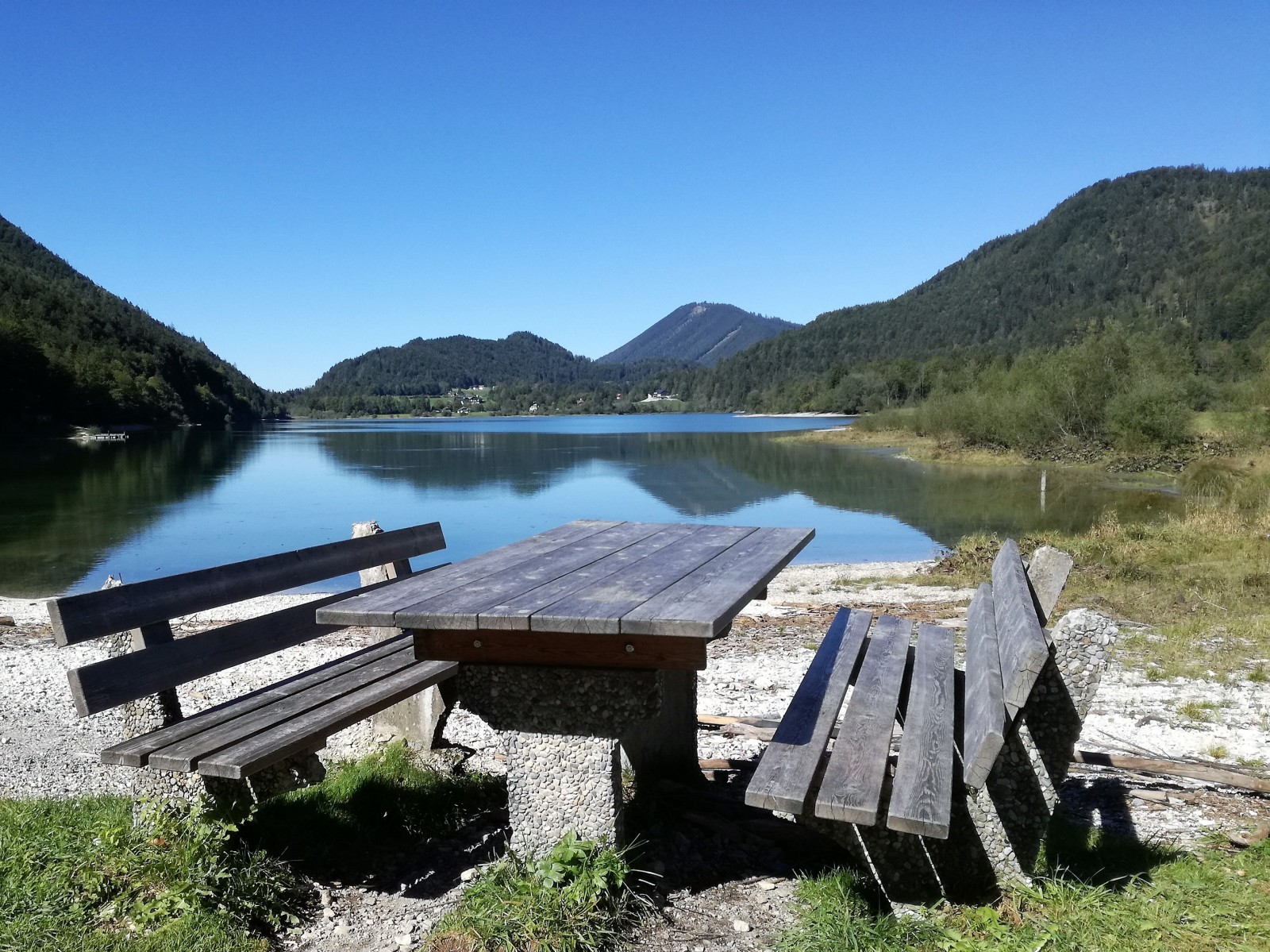 Idealer Rastplatz am Hintersee