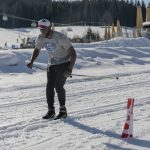 Barkevious Mingo, Langlaufen und Fun-Biathlon Flachau (c) SalzburgerLand Tourismus:LUX FUX Media