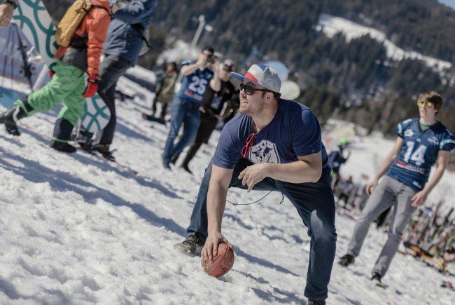 Ben Garland, Flachau, Winter Football Action (c) SalzburgerLand Tourismus:LUX FUX Media