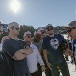 NFL-Allstars, (vlnr) Todd Buelow, Gary Barnige, Joe Tronso, Barkevious Mingo, Gerhard DeBeer, Ben Garland, Flachau (c) SalzburgerLand Tourismus:LUX FUX Media