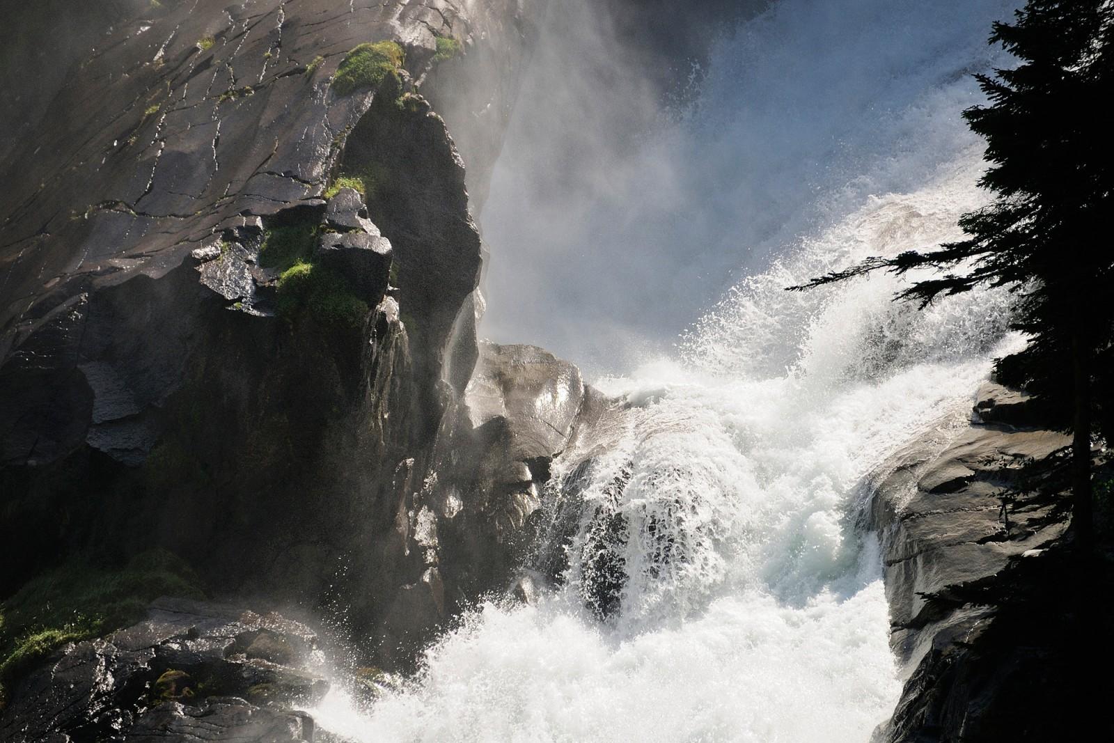 Erfrischende Gischt der Krimmler Wasserfälle
