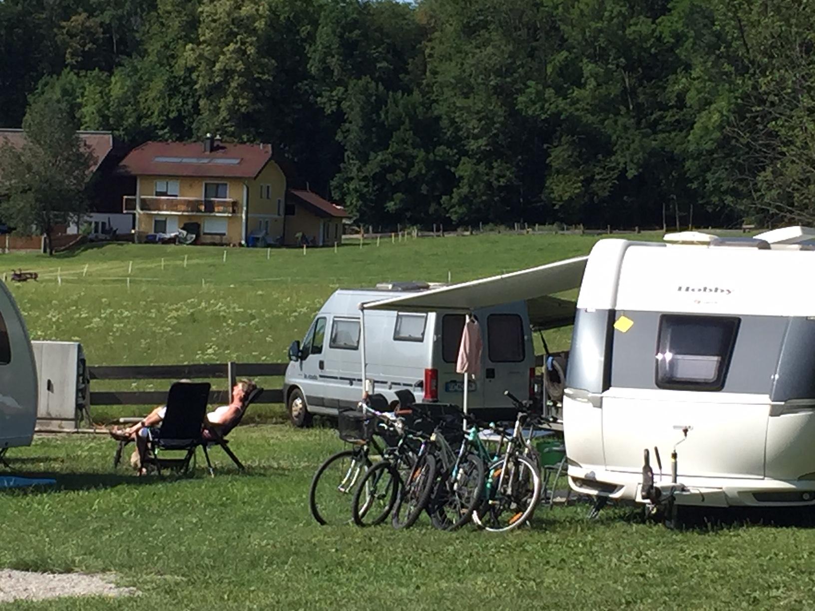 Camping am Stadtrand