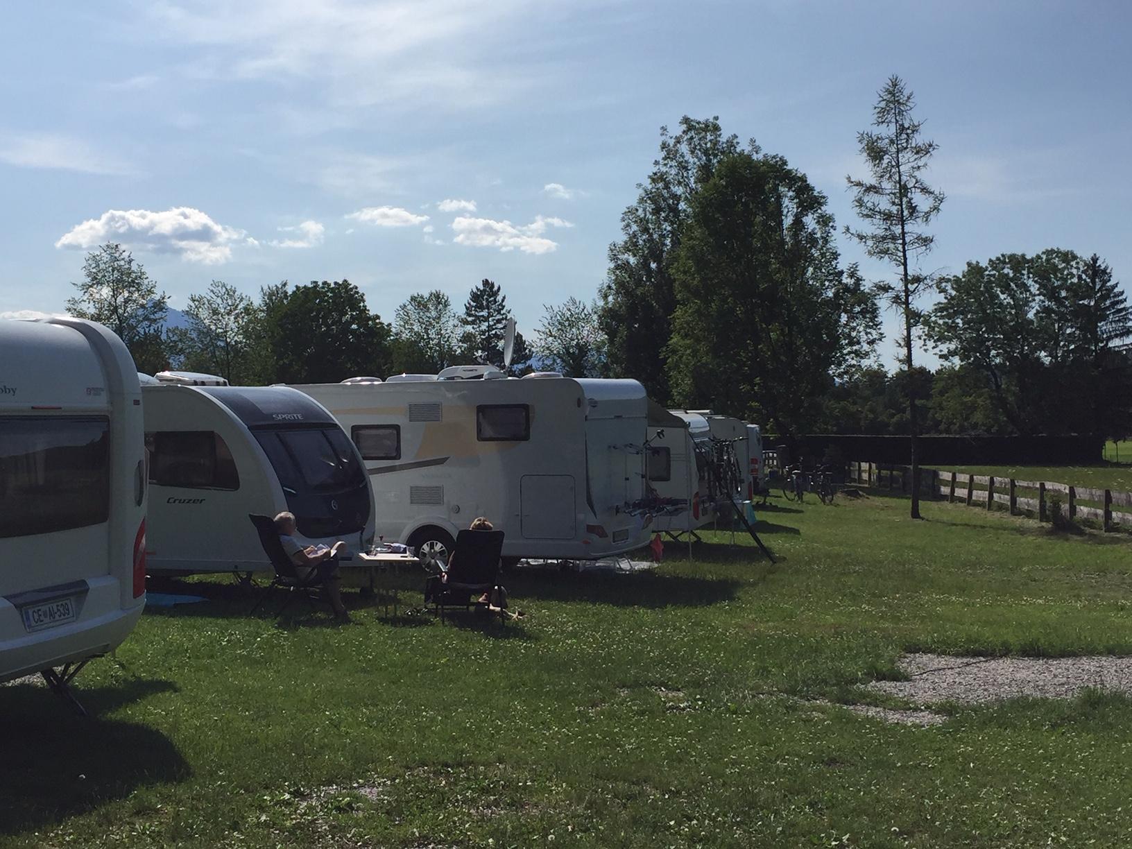Campen in idyllischer Umgebung