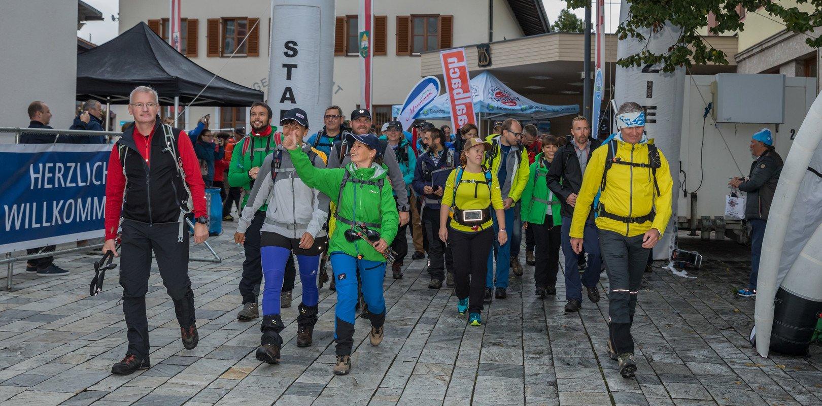 Start- und Zielgelände am Dorfplatz in Maishofen