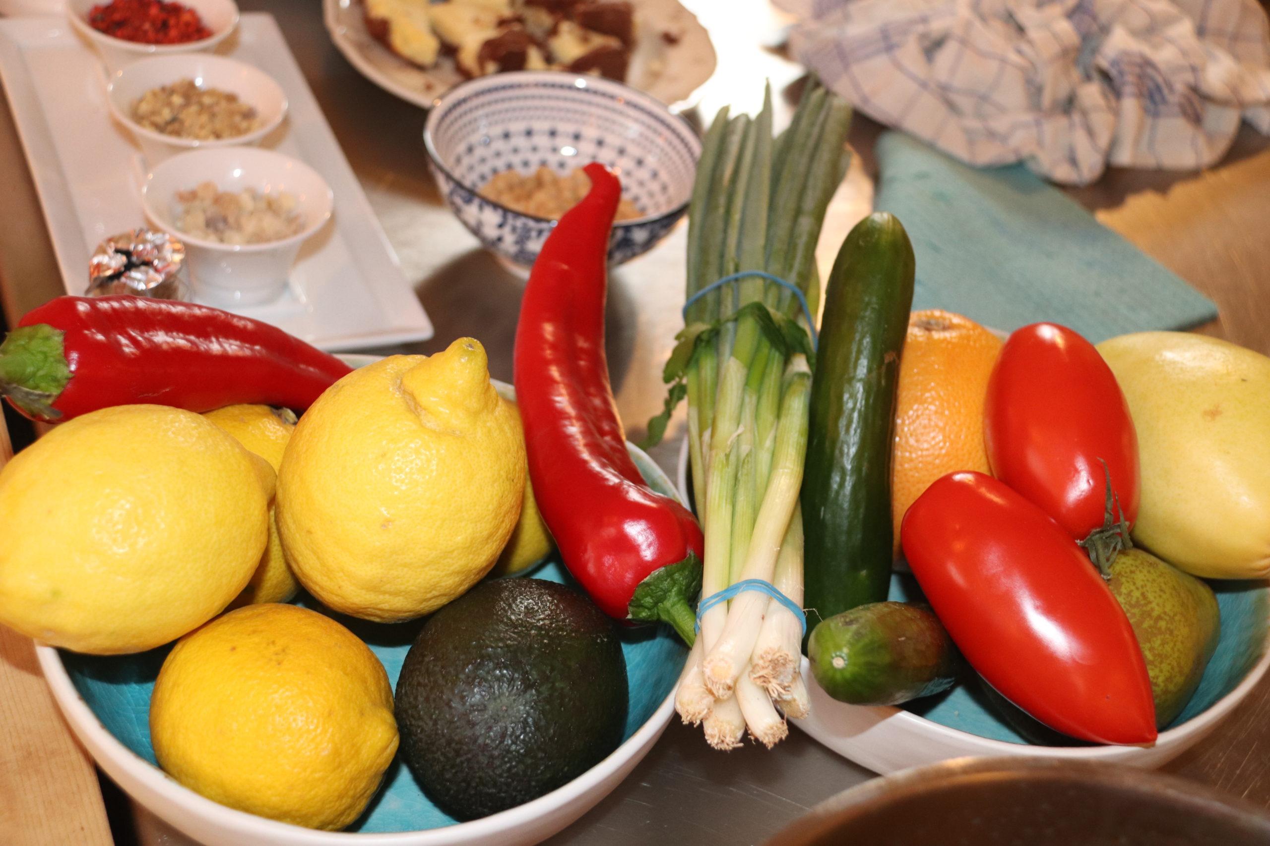 © Martina Egger  - bunte Zutaten für bunte, frische Gerichte in der Tauglerei