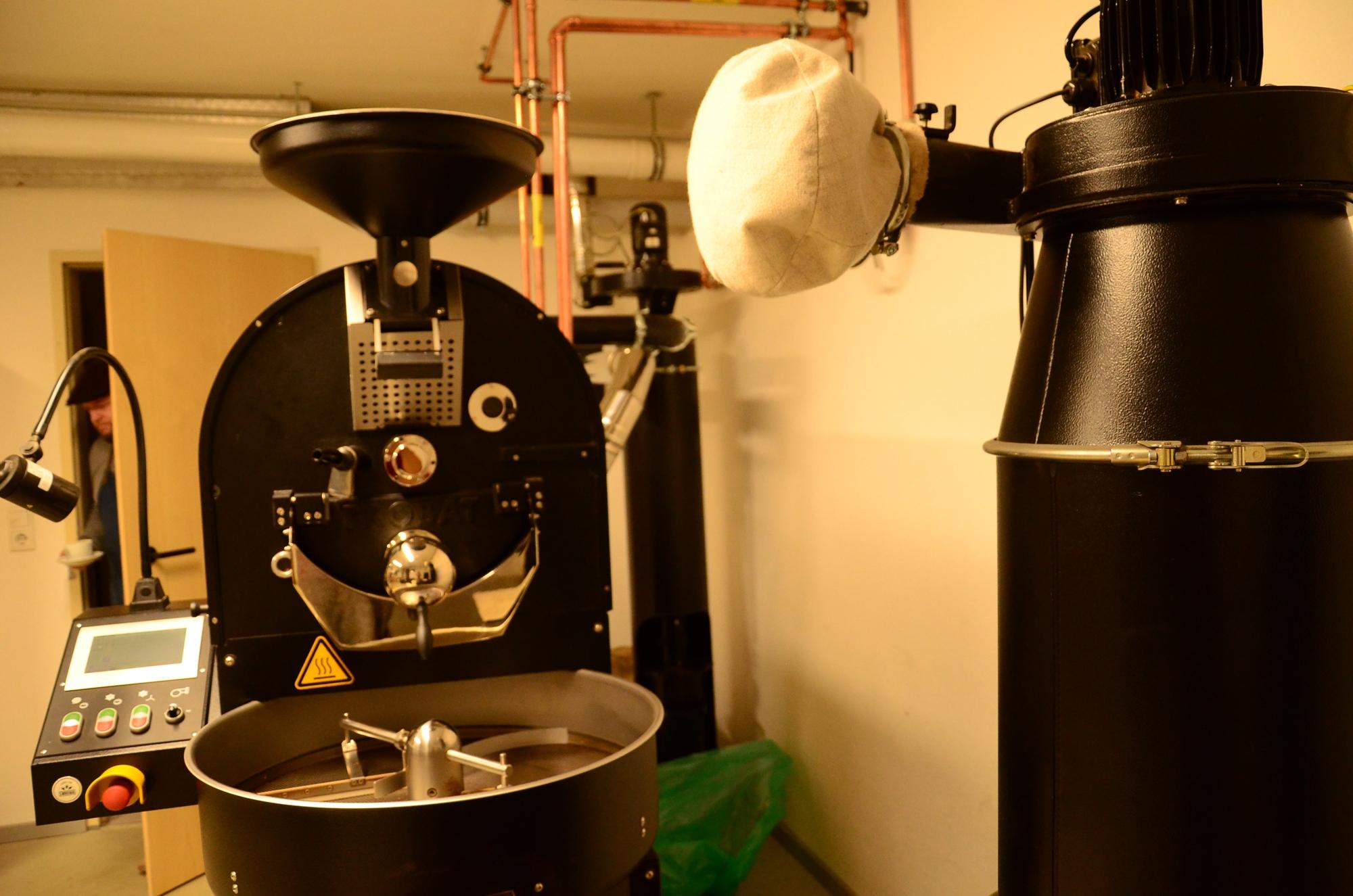 In der Kaffeerösterei