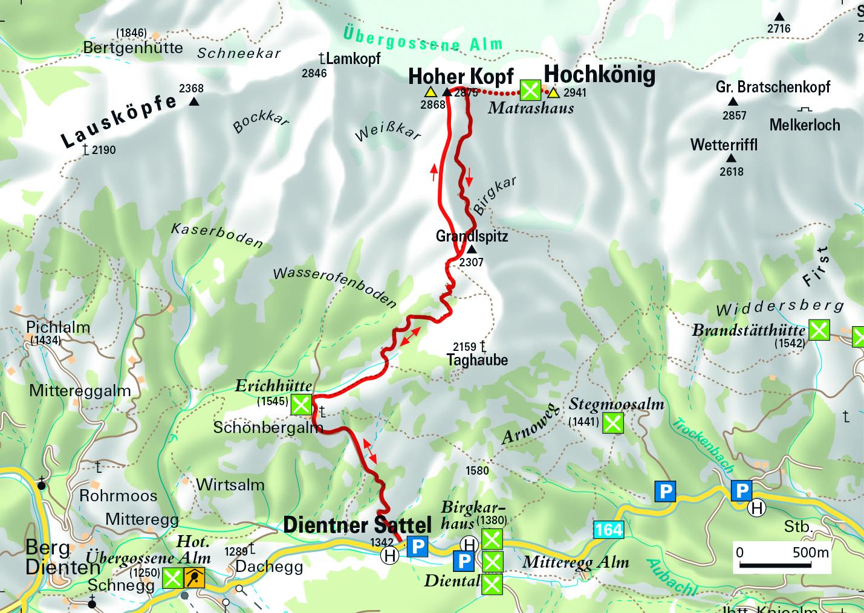 Tour Dientner Sattel - Hoher Kopf am Hochkönig