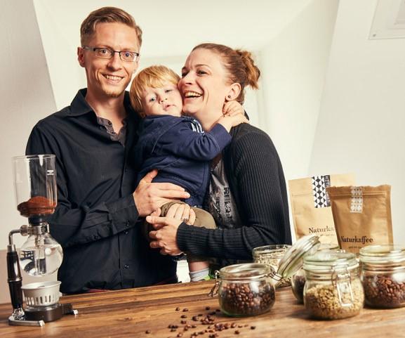 Judith Hellermann mit Familie,
