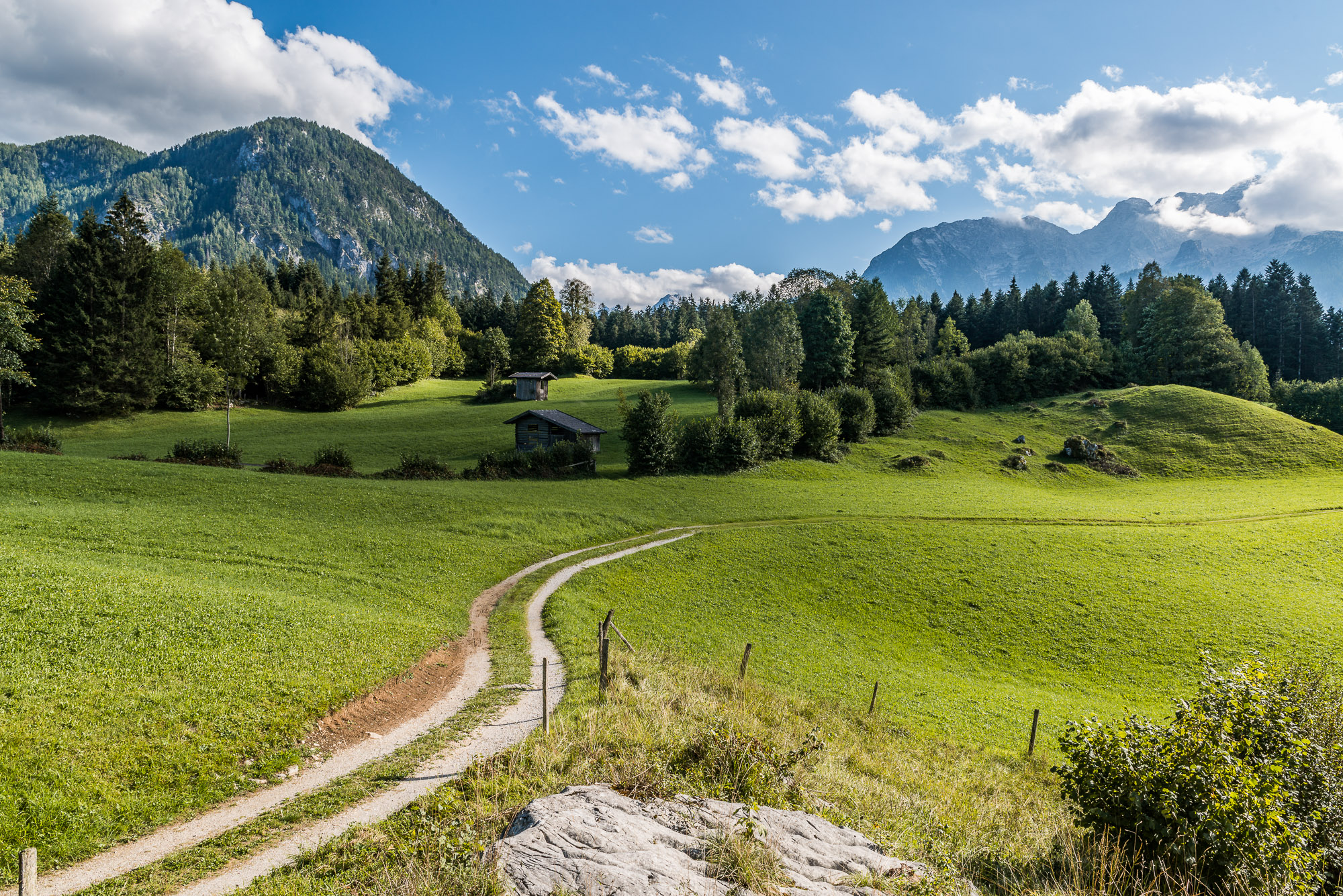 Die schöne Landschaft im Ortsteil Au