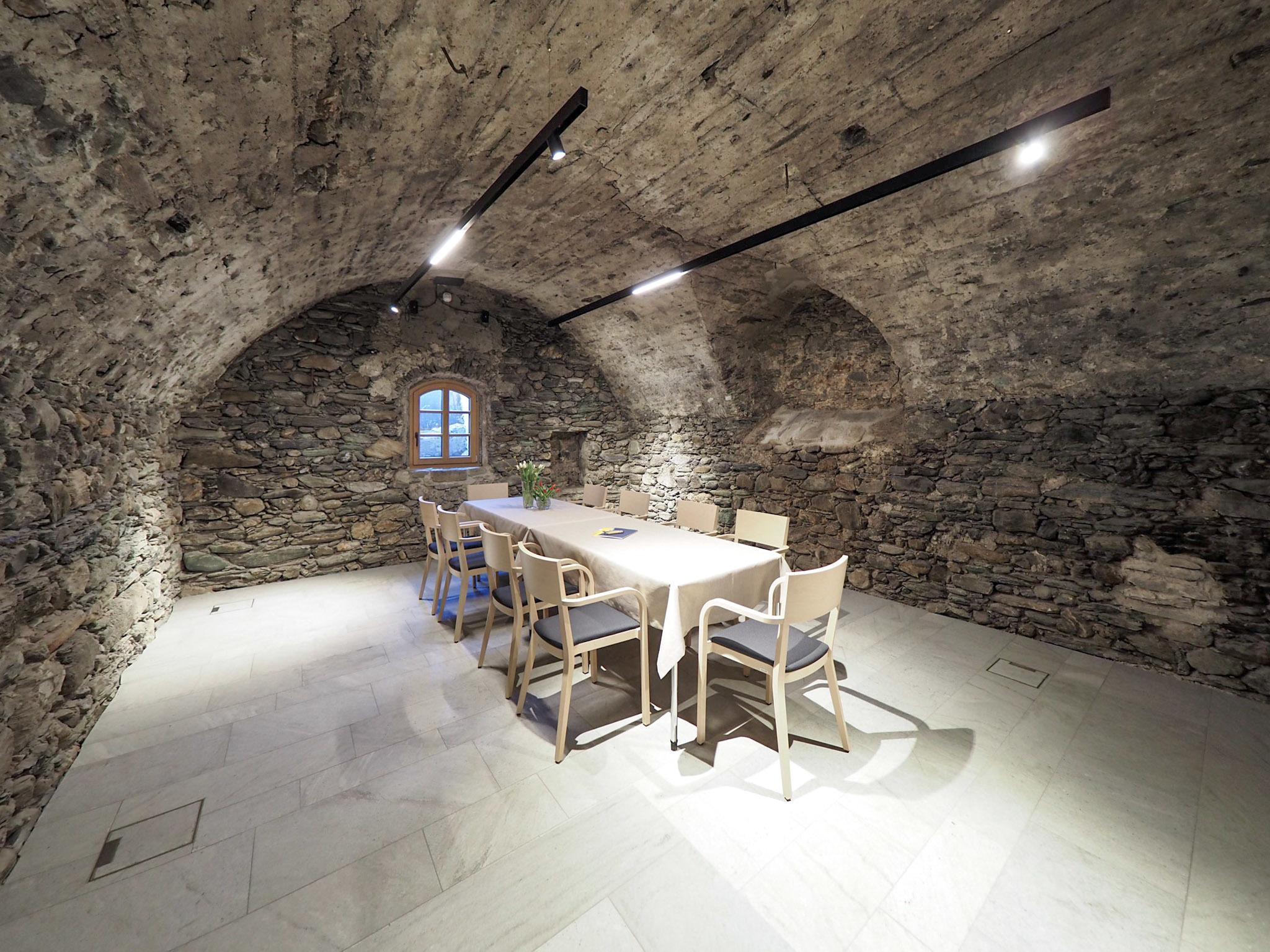 Ausstellungen und Feiern im Kellergewölbe - einzigartig