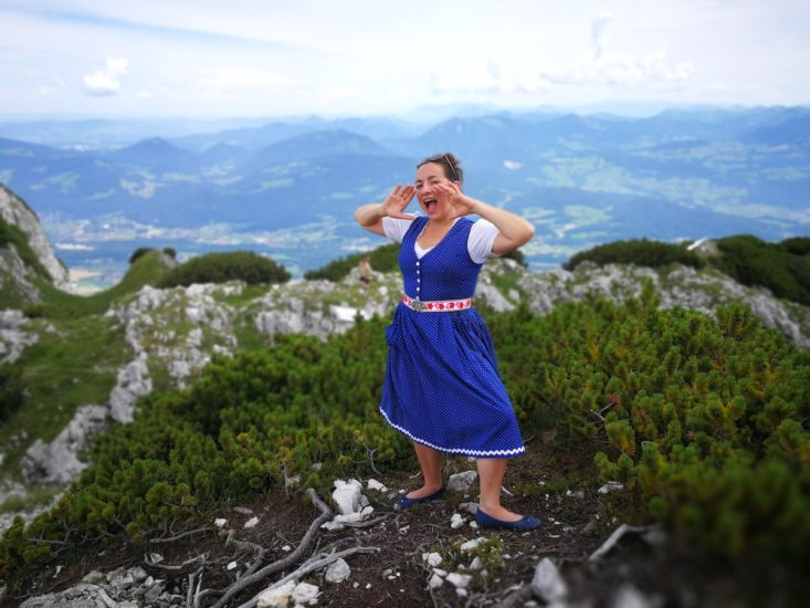 Anita Biebl Jodeltrainerin am Untersberg