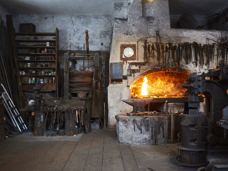 Alte Schmiedewerkstatt in Leogang
