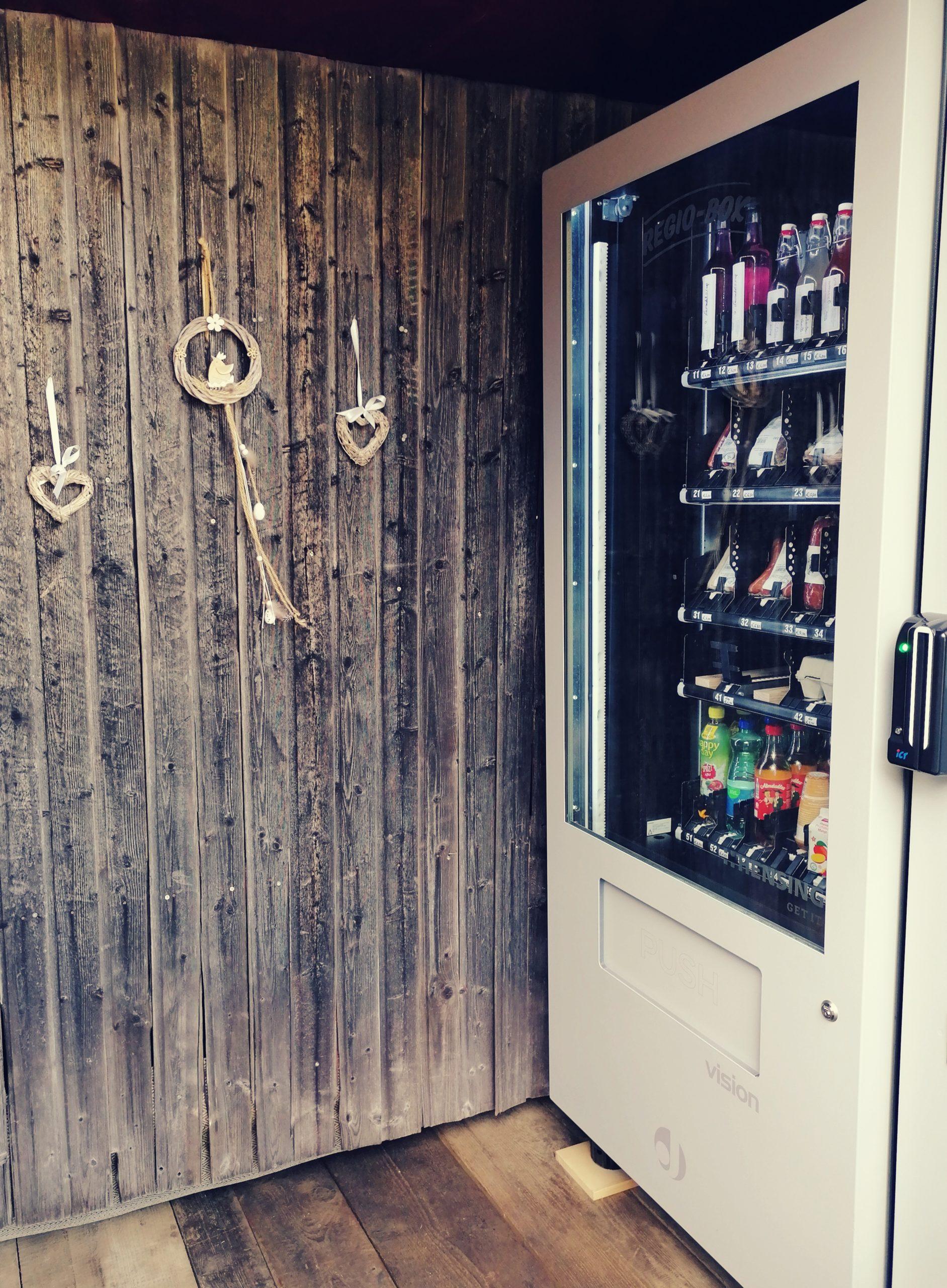 Automat mit regionalen Spezialitäten © Regina Langreiter