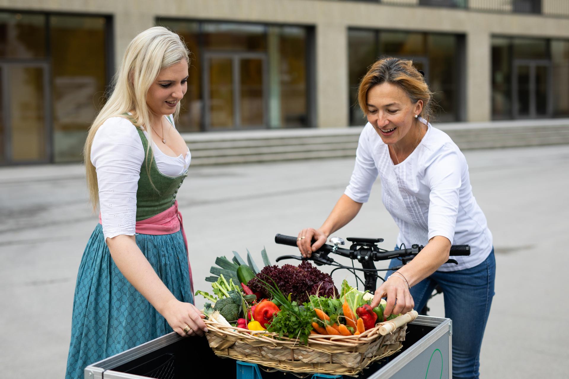 © SLTG - Michael Grössinger - Gemüselieferung per Rad