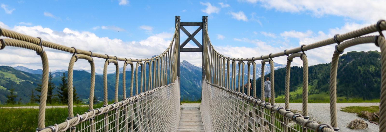 Wagrainis Grafenberg Hängebrücke