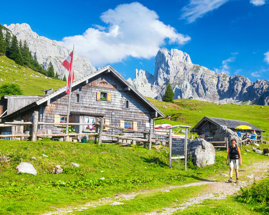 Mountain huts and hiking